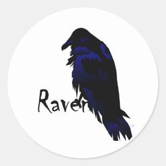 Raven on Raven Classic Round Sticker