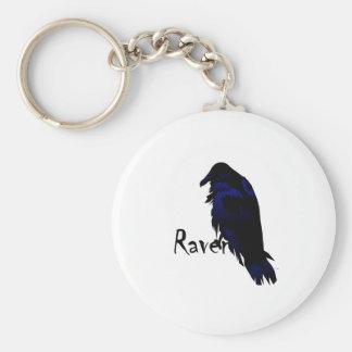 Raven on Raven Key Chain