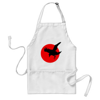 Raven on Red Circle Adult Apron