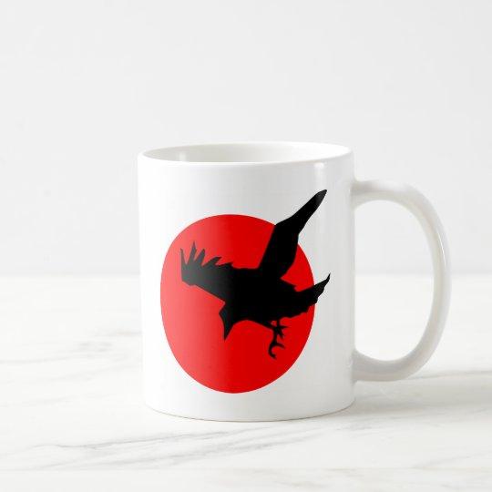 Raven on Red Circle Coffee Mug
