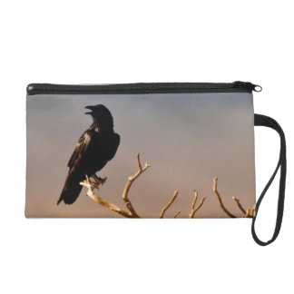Raven on Sunlit Tree Branches, Grand Canyon Wristlet Purses