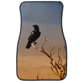 Raven on Sunlit Tree Branches, Grand Canyon Car Floor Mat