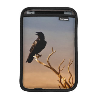 Raven on Sunlit Tree Branches Grand Canyon Sleeve For iPad Mini