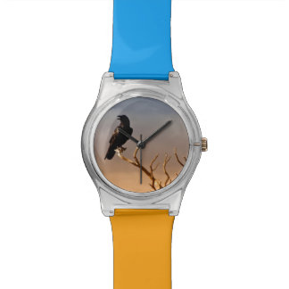 Raven on Sunlit Tree Branches, Grand Canyon Wrist Watch