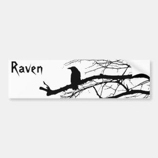 Raven on the Tree Car Bumper Sticker