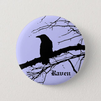Raven on the Tree Button