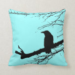 Raven on the Tree by Alexandra Cook Pillow