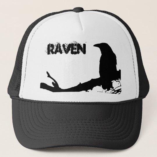 Raven on the Tree Trucker Hat