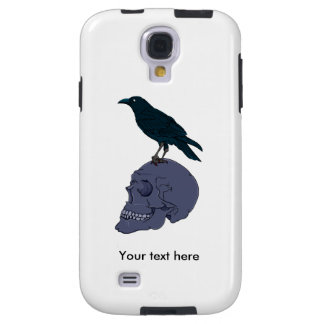 Raven Or Crow Standing On A Human Skull Galaxy S4 Case