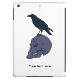 Raven Or Crow Standing On A Skull iPad Air Case