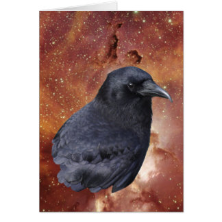 Raven & Outer Space Greeting Card
