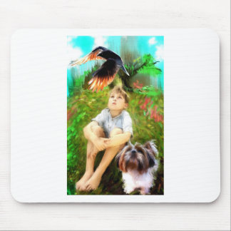 raven overhead mouse pad