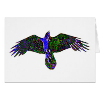 Raven Paint Greeting Cards