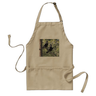 Raven Pair in the Mountain Adult Apron