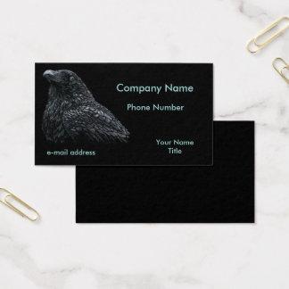 Raven Pastels on Black Business Card