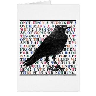 Raven Poem Edgar Allan Poe Greeting Card