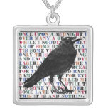 Raven Poem Edgar Allan Poe Pendant