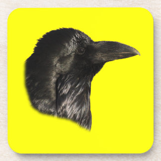 Raven Portrait Drink Coaster