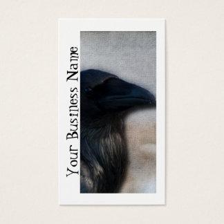 Raven Portrait; Promotional Business Card