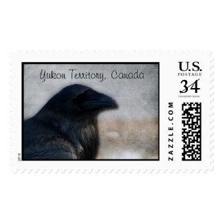 Raven Portrait; Yukon Territory Souvenir Postage