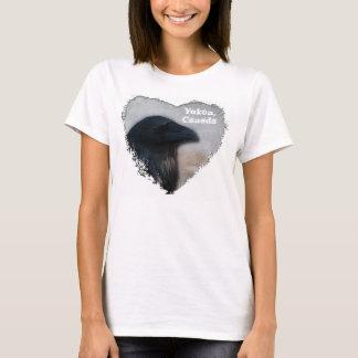 Raven Portrait; Yukon Territory Souvenir T-Shirt