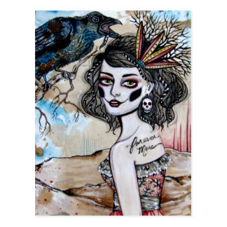 Raven Postcard
