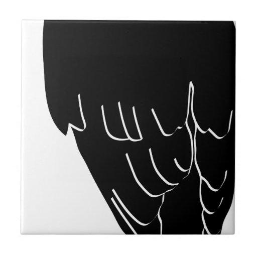 raven rabe crow canta gothic dark bird wings azulejo cerámica