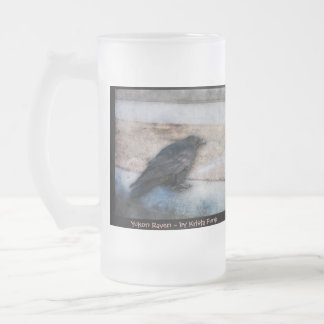 Raven Racing Strip Frosted Glass Beer Mug