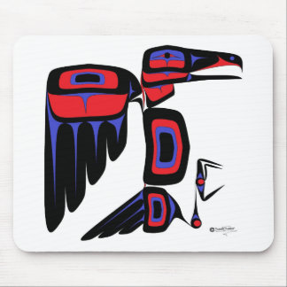 RAVEN RED AND BLUE MOUSE PAD