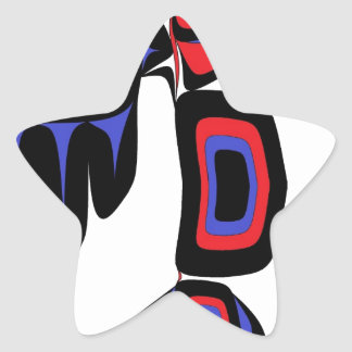 RAVEN RED AND BLUE STAR STICKER