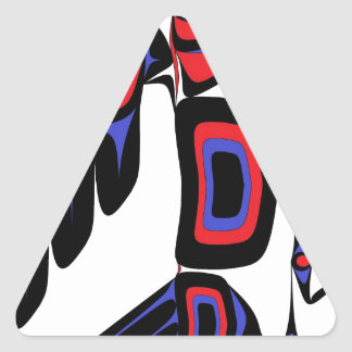 RAVEN RED AND BLUE TRIANGLE STICKER