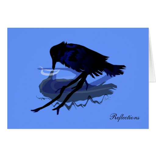 Raven Reflections Greeting Card