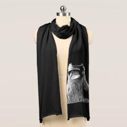 Raven Scarf Raven Bird Scarves Cool Raven Gift