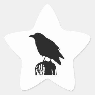 RAVEN SILHOUETTE STAR STICKER
