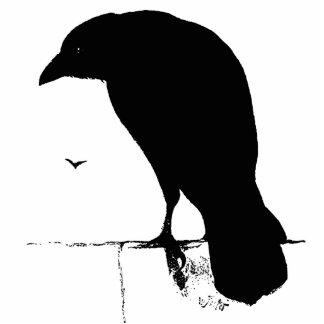 Raven Silhouette - Vintage Goth Ravens & Crows Cutout