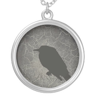 Raven Silver Plated Necklace