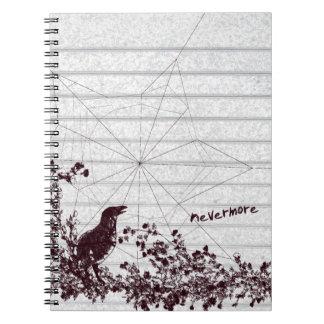 Raven Sketch Gothic Notebook Journal