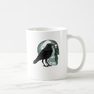 Raven Skull And Skeleton Key Coffee Mug
