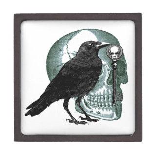 Raven Skull And Skeleton Key Premium Gift Box