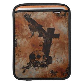 Raven, Skull, Headstone, Spider Gothic iPad Sleeve rickshaw_sleeve