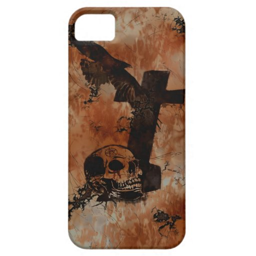 Raven, Skull, Headstone, Spider Gothic iPhone Case iPhone 5 Covers
