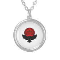 Raven Spirit Silver Plated Necklace