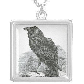 """""""Raven"""" Square Pendant Necklace"""