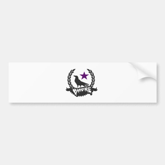 Raven Star Bumper Sticker