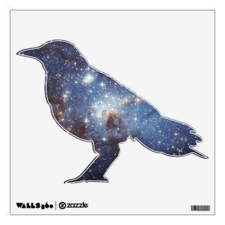 Raven Starry Space Wall Decal