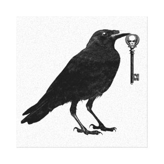 Raven Steals Skeleton Key Canvas Print