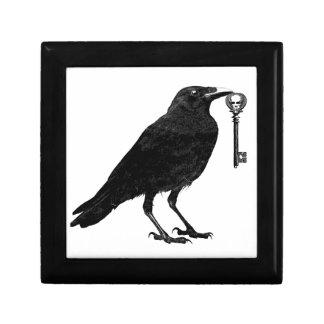 Raven Steals Skeleton Key Jewelry Box