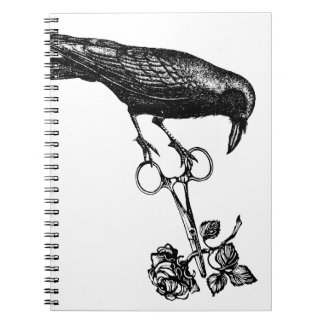 Raven Steals the Rose Spiral Note Book