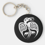raven steals the sun , or is it the moon? key chain