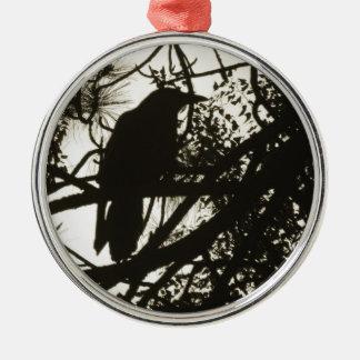 Raven Steampunk Metal Ornament